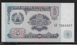 Tadjikistan - 5 Rubles - Pick N°2 - NEUF - Tadzjikistan