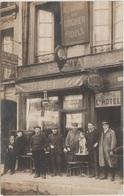 CPA PHOTO 75 PARIS IV 125 Rue Saint Antoine Commerce Devanture Restaurant Hôtel Maison Victor LEMEE 1911 Rare - Arrondissement: 04