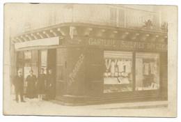 24-RIBERAC-CARTE PHOTO-Ganterie, Soierie... AU PAUVRE DIABLE-E.A. TAMARELLE, 9 Place Nationale... Animé - Riberac