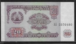 Tadjikistan - 20 Rubles - Pick N°4 - NEUF - Tajikistan