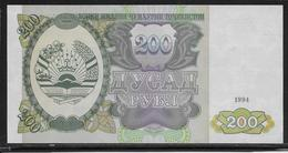 Tadjikistan - 200 Rubles - Pick N°7 - NEUF - Tadzjikistan