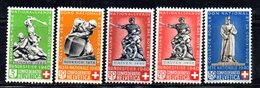 495/1500 - SVIZZERA 1940 , Pro Patria Serie Unificato N. 349/353  ***  MNH - Pro Patria