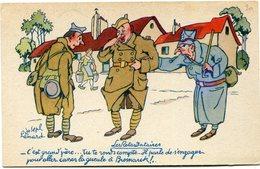 """FRANCE CARTE DE FRANCHISE MILITAIRE NEUVE OFFERTE PAR """" BYRRH """" (LES RETARDATAIRES) - Marcophilie (Lettres)"""