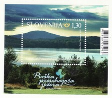 2045 Slowenien Slovenia 2018 Mi.No. 1325 ** MNH Block Natural Park Pivka Land Water Lake Tree Hill Mountain - Umweltschutz Und Klima