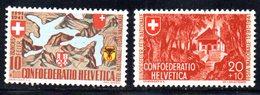 496/1500 - SVIZZERA 1941 , Pro Patria Serie Unificato N. 368/369  ***  MNH - Pro Patria