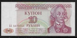 Transnistria - 10 Rublei - Pick N°18 - NEUF - Billets