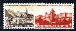 498/1500 - SVIZZERA 1943 , Pro Patria Serie Unificato N. 385/386  ***  MNH - Pro Patria