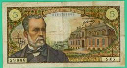 5 Francs - France -  Pasteur - N° S.65  5988 / E.7-12-1967.E - TB+ - - 5 F 1966-1970 ''Pasteur''