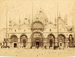 ITALIE - VENISE - Place St MARC - Tirage ALBUMINE - Circa 1875 - Photographs