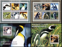Mozambico 2002, Birds, Penguins, 12val In 2BF +2BF - Mozambique
