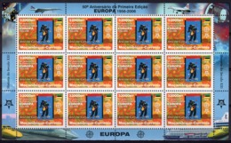 Mozambico 2006, 50th Europa Stamps, Building Of Europe, Art Of Posters, Sheetlet Of 12val - Mozambique