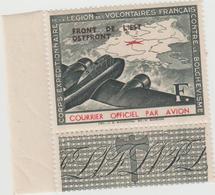 """Timbre """"front De L'est"""" Courrier Spécial Par Avion - Poste Aérienne"""