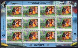 Mozambico 2006, 50th Europa Stamps, Building Of Europe, History Of Post, Sheetlet Of 12val - Mozambique