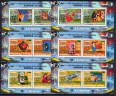 Mozambico 2006, 50th Europa Stamps, Trains, Concorde, Fishes, Cars, Clown, 12val In 6BF - Mozambique