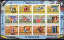 Mozambico 2006, 50th Europa Stamps, Trains, Concorde, Fishes, Cars, Clown, 12val In BF IMPERFORATED - Mozambique