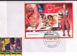 Mozambico 2010, Sport, Formula 1, A. Senna, BF In FDC - Mozambique