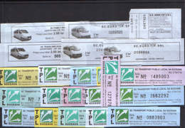 16 Bus Tickets + 6 Maxi-taxi Tickets From Romania - Europe