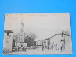 """81 ) Labessonnié - Place De L'eglise """" Vue Générale """"   - Année 1905 - EDIT : - France"""