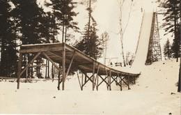 Ski Jump, Rockliffe Park, Ottawa, Ontario Real Photo Post Card - Ottawa