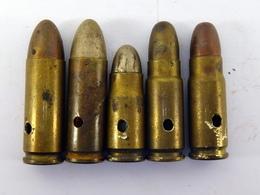 Lot De Cartouches Diverses Pour Pistolet 7.63 Et Autres - Neutralisées - Militaria