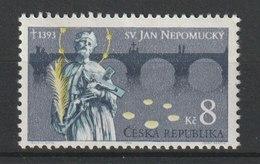 MiNr. 4 Tschechische Republik:  600. Todestag Von Johannes Von Nepomuk. D) HI. Johannes Von Nepomuk (1350-1393), Böhmisc - Tschechische Republik