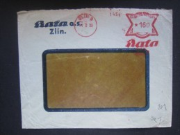 BRIEF Frankotype Freistempel ZLIN Bata 1939 /// Tm2205 - Tschechoslowakei/CSSR