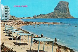 SPAIN 1976 - POSTCARD CALPE - IFACH  BEACH AND IFAC ROCK MAILED TO BISSENDORF (GERMANY) W 1 ST 7 PTAS REF 7008 - Spain