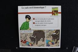 Fiche Atlas, TINTIN (extrait De, Tintin Au Tibet) - Animaux Domestiques N°55. Le Yack Est-il Domestiqué  ? - Collections
