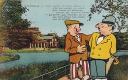 "Carte Postale Humoristique Marseille France Galéjades Marseillaise édition "" La Cigogne ""   Humour - Humour"