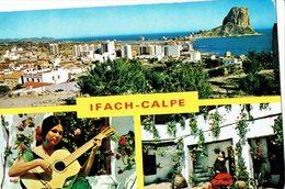 SPAIN 1969 - POSTCARD CALPE - IFACH  3 VIEWS MAILED TO BISSENDORF (GERMANY) Stamp Missing REF 7009 - Spain