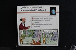 Fichet Atlas,TINTIN (exrait De,Les Cigares Du Pharaon)-Histoire De La Vie N°15.La Parenté Entre Le Mammouth Et L'éléphan - Collections
