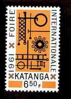 Katanga. OBP-COB. 1961 - N°74. *FOIRE INTERNATIONALE D'ELISABETHVILLE.  6,50F. Neuf - Katanga