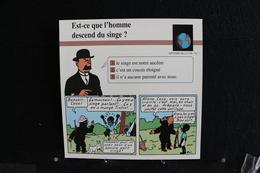 Fichet Atlas,TINTIN (exrait De, Tintin Au Congo) - Histoire De La Vie N°20. Est-ce Que L'homme Descend Du Singe ? - Collections