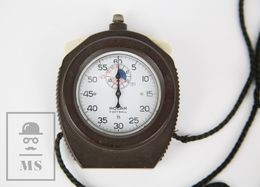 Vintage Chronometer / Stopwatch By ROCAR - Football 1/5 - Swiss Made - Working - Jewels & Clocks