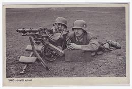 Dt.- Reich (000622) Propagandakarte SMG Schießt Scharf, Wehrmachts- Bilderserie 502/83,gelaufen Mit Feldpost Am 6.5.1940 - Germany