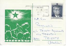 ESPERANTO - CARTOLINA VIAGGIATA  DA VIENNA  A TRIESTE - Esperanto