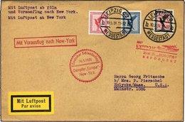 KATAPULTPOST 41c BRIEF, 16.5.1931, Europa - New York, Nachbringe- Und Schleuderflug, Prachtbrief - Duitsland