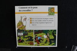 Fichet Atlas,TINTIN (exrait De,Le Temple Du Soleil)-Animaux Sauvages,n°39.Comment Est La Peau Des Crocodiles - Collections