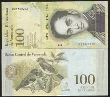 Venezuela 100000 Bolivares 2017 Pick 100 UNC - Venezuela