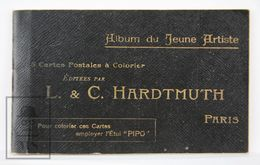 Complete Hardtmuth Pencil Colouring Postcard Folder - Early 1900's Illustrations - Publicidad
