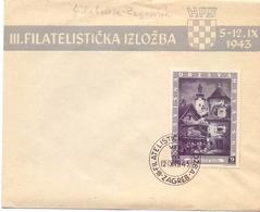 HRVATSKA 1943 COVER FILATELIC ZAGREB  HFS  (SET1800101) - Croazia