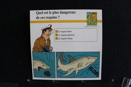 Fichet Atlas, TINTIN (exrait De,Coke En Stock) - Animaux Sauvages, N°61. Quel Est Le Plus Dangereux De Ces Requins  ? - Collections