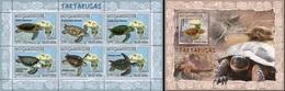 Mozambico 2007, Animals, Turtles, 6val In BF +BF - Schildkröten