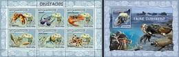 Mozambico 2007, Animals, Shellfish, 6val In BF +BF - Fische
