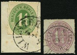 SCHLESWIG-HOLSTEIN 4 BrfStk,20 O, WILSTER, K1 Auf 11/4 S. Dkl`gelblichgrün Und Braunpurpur, 2 Prachtwerte - Schleswig-Holstein