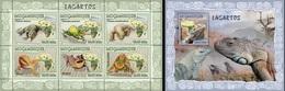 Mozambico 2007, Animals, Lizards, 6val In BF +BF - Reptilien & Amphibien