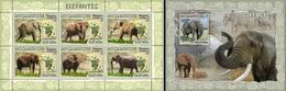 Mozambico 2007, Animals, Elephants, 6val In BF +BF - Elefanten