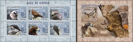 Mozambico 2007, Animals, Birds Of Prey, 6val In BF +BF - Adler & Greifvögel