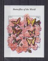V155. Liberia - MNH - Nature - Butterflies - Flowers - Roses - Briefmarken