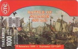 The Naval Battle Of Salamis 480 B.C. X0824 - Greece